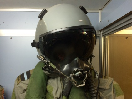 Flying suit and helmet